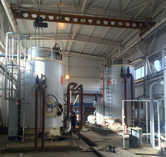 Copper mine Electrode boiler heating plant in operation - PARAT ...