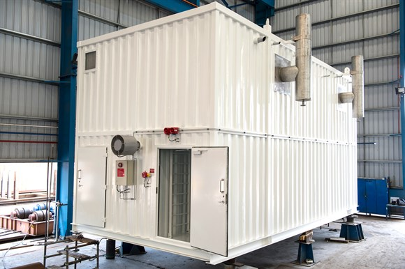Steam boiler module for winterization of drilling rig for Japan Drilling, PARAT Halvorsen